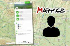 Mapy.cz Moje mapy uživatelský profil trasy místa fotografie aktivity