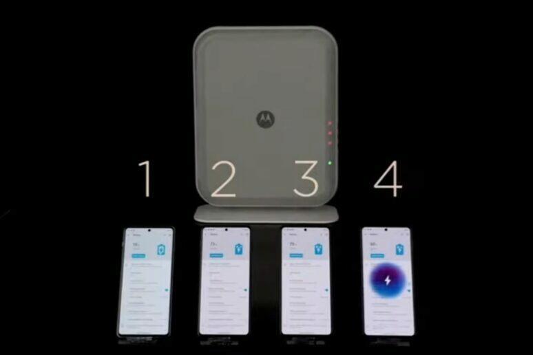 Motorola bezkontaktní nabíjení 4 mobily