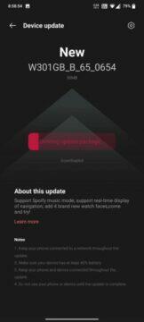 Nová aktualizace pro OnePlus Watch
