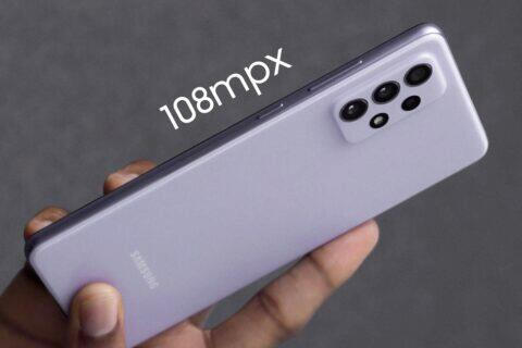 Samsung Galaxy A73 108mpx fotoaparát