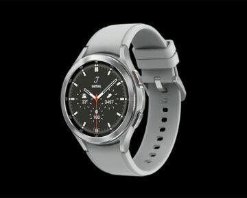 Samsung Galaxy Watch4 Classic stříbrná bok