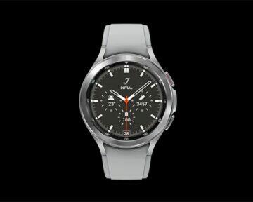 Samsung Galaxy Watch4 Classic stříbrná čelo