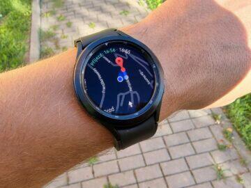 Samsung Galaxy Watch4 recenze funkce mapy