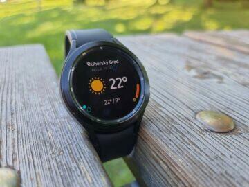 Samsung Galaxy Watch4 recenze funkce počasí