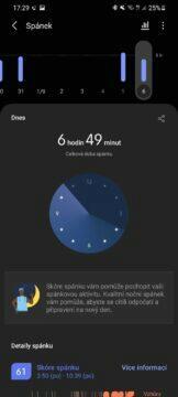 Samsung Health 4 spánek