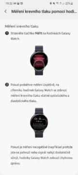 Samsung Health Monitor 6 měření tlaku