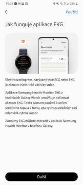 Samsung Health Monitor 7 EKG nápověda