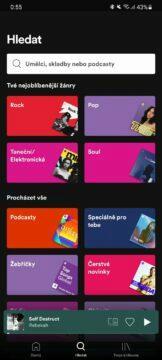 Spotify Společný mix playlist Blend 1 hledat
