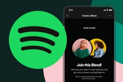 Spotify Společný mix playlist Blend seznam