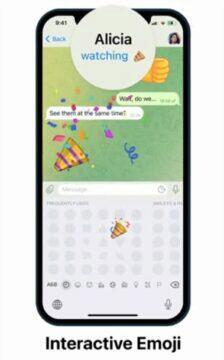Telegram 8.0.1 aktualizace interaktivní emoji