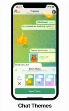 Telegram 8.0.1 aktualizace témata