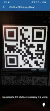 Ticketportal Čtečka ověření vstupenek QR kód