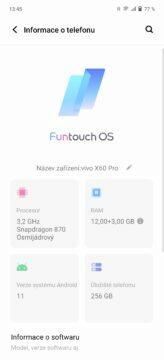 Vivo X60 Pro Funtouch OS aktualizace