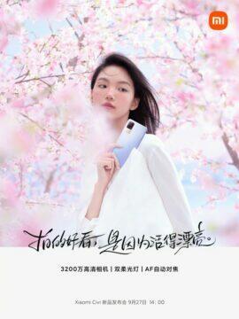 Xiaomi Civi informace banner 1