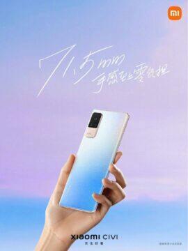 Xiaomi CIVI parametry cena modrá