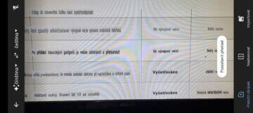 Xiaomi MIUI hlášení chyb web ukázka