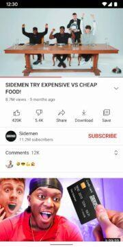 YouTube aplikace