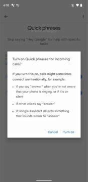 Google Asistent rychlé fráze nastavení 3 upozornění