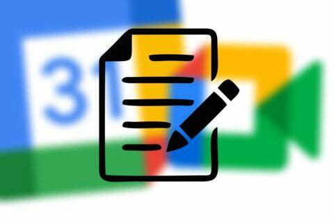 Google Kalendář Meet živé poznámky