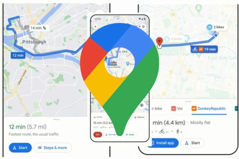 Google Mapy navigace 3 novinky