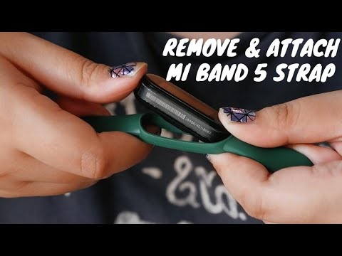 How to Replace Xiaomi Mi Band 5 Strap Easily