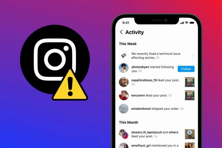 Instagram výpadky notifikace upozornění