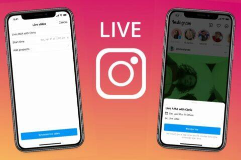 Instagram živé přenosy plánování