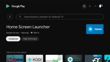instalace Google TV do Android TV 4 Home Screen Launcher instalace