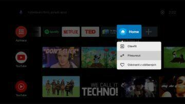 instalace Google TV do Android TV 5 Home Screen Launcher přesunutí