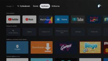 instalace Google TV do Android TV 8 menu