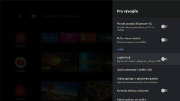 instalace Google TV do Android TV Chromecast ADB nastavení 4 povolit ladění USB