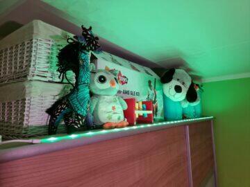 LIDL LivarnoLux RGB LED pásek světlo zelená