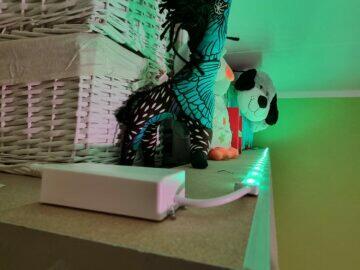 LIDL LivarnoLux RGB LED pásek světlo zelená detail