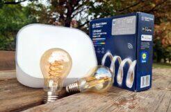 LIDL Smart Home LED pásek dekorativní světlo žárovky filament test