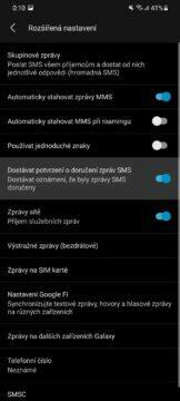 potvrzení o doručení SMS 2
