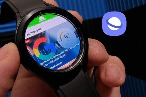 prohlížeč Samsung Internet Galaxy Watch4