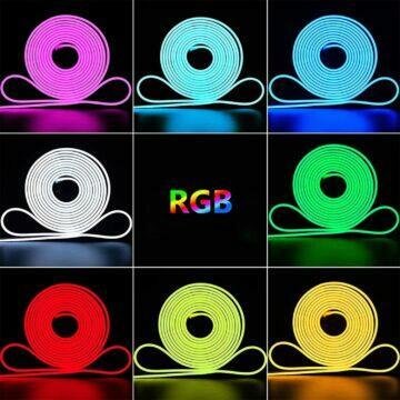 RGB neon pás trubice barvy