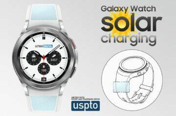 Samsung Galaxy Watch solární články v řemínku patent