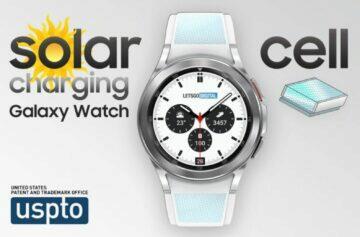 Samsung Galaxy Watch solární články v řemínku patent panel