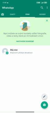 smazání whatsapp účtu android