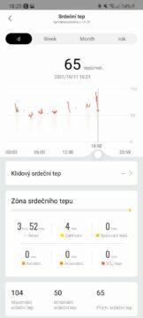 Zepp aplikace srdeční tep
