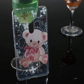 Bear Transparent Painted TPU Phone Case for Xiaomi Redmi K20 / K20 Pro