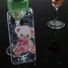 Bear Transparent Painted TPU Phone Case for Samsung Galaxy A20e
