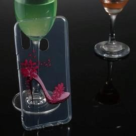 High Heels Transparent Painted TPU Phone Case for Samsung Galaxy A20e