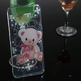Bear Transparent Painted TPU Phone Case for Samsung Galaxy A80 / A90