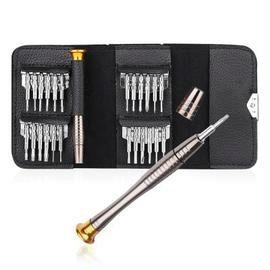 Gocomma Screwdriver Wallet Kit Repair Tools 25 in 1 - SILVER+GOLDEN