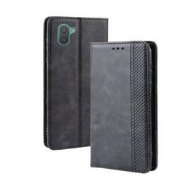 Magnetic Buckle Vintage Leather Smartphone Case for Sharp Aquos R3