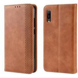 Magnetic Buckle Vintage Leather Smartphone Case for Huawei Y6 PRO 2019