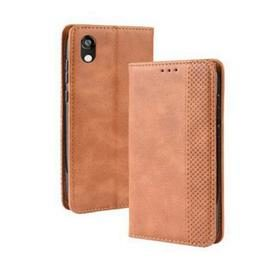 Magnetic Buckle Retro Leather Smartphone Case for Huawei Honor 8S