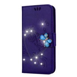 Bling Rhinestone Diamond PU Wallet Phone Case for Samsung Galaxy J3 2018 Case